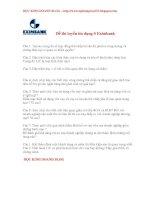 đề thi tuyển dụng eximbank