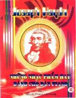 Joseph Haydn qua những nhạc phẩm hay dành cho đàn piano (quyển 8) pot
