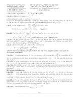 ĐỀ THI KSCL CÁC MÔN THI ĐẠI HỌC Môn thi: Toán, khối A, B, D lần I THPT LÊ LỢI pdf