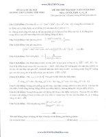 đề thi thử đại học lần 1 môn toán khối a 2014 - thpt lương thế vinh hà nội