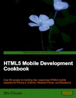 HTML5 Mobile Development Cookbook ppt
