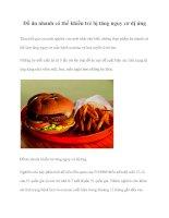 Đồ ăn nhanh có thể khiến trẻ bị tăng nguy cơ dị ứng pot