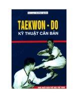Taekwon -do kỹ thuật căn bản pptx