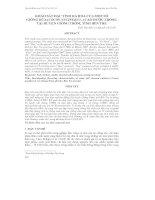 KHẢO SÁT ĐẶC TÍNH RA HOA CỦA MỘT SỐ GIỐNG DỪA (COCOS NUCIFERA L.) CAO ĐƯỢC TRỒNG TẠI HUYỆN GIỒNG TRÔM, TỈNH BẾN TRE pot