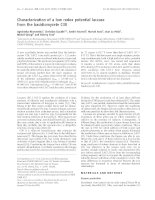 Báo cáo Y học: Characterization of a low redox potential laccase from the basidiomycete C30 pptx