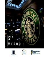 Lập kế hoạch truyền thông cho STARBUCKS COFFEE docx