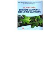 hướng dẫn bón phân cân đối và hợp lý cho cây trồng