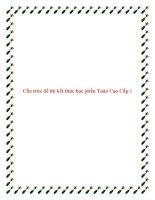 Cấu trúc đề thi kết thúc học phần Toán Cao Cấp 1 pdf