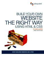 Build Your Own Website the Right Way using HTML & CSS docx