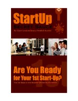 StartUp Secret Sauce Series: Are You Ready for Your First StartUp docx