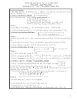 Bài tập trắc nghiệm môn vật lí 12 năm 2012-2013 CHƯƠNG I. DAO ĐỘNG ĐIỀU HÒA ppt