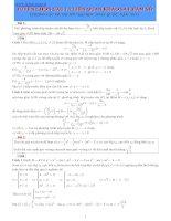 Tuyển chọn câu 1.2 liên quan khảo sát hàm số pptx