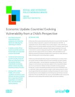 Economic Update: Countries' Evolving Vulnerability from a Child's Perspective ppt