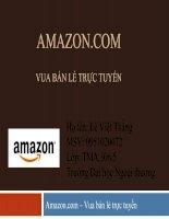 Mô hình thương mại điện tử của Amazon.com docx