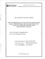 Đề tài: Tính toán thiết kế trạm xử lý nước thải mía đường công ty TNHH MK Sugar Việt Nam, thị trấn Ma Lâm, huyện Hàm Thuận Bắc, tỉnh Bình Thuận công suất 250m3/ngày đêm pptx