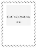 Lập kế hoạch Marketing online doc