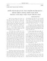 Báo cáo khoa học: Điển tích qua các tác phẩm ngâm khúc hình thức song thất lục bát trong văn học Việt Nam trung đại potx