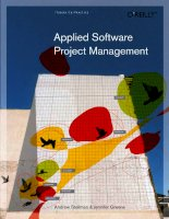 APPLIED SOFTWARE PROJECT MANAGEMENT docx
