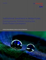 Institutional Investment in Hedge Funds: Evolving Investor Portfolio Construction Drives Product Convergence pdf