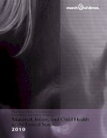 March of Dimes Foundation Data Book for Policy Makers Maternal, Infant, and Child Health in the United States 2010 pot