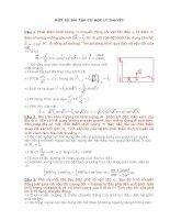 Bài tập vật lý cơ học lý thuyết docx