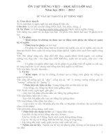 Ôn tập tiếng việt học kì 2 lớp 6 năm 2011 - 2012 pdf