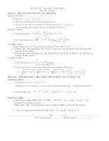 đề thi thử toán 2013- 2014