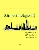 Quản lý Môi Trường Đô Thị pdf
