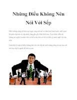 Những Điều Không Nên Nói Với Sếp pdf