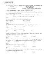 Đề thi tuyển sinh lớp 10 THPT Năm 2009 - 2010 Môn thi Hóa học - Sở GD&ĐT Bến Tre pdf