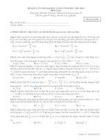 đề thi kiểm tra chất lượng ôn thi đại học lần thứ 2 năm 2013 - 2014 môn vật lý mã đề 896