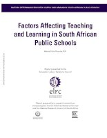 Factors Affecting Teaching and Learning in South African Public Schools pdf