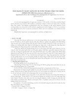Ứng dụng kỹ thuật nuôi cấy in vitro trong công tác nhân giống cây mía (Saccharum officinarum L.) docx