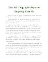 Chùa Bút Tháp, ngôi cổ tự danh tiếng vùng Kinh Bắc potx