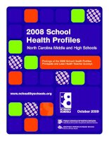 2008 School Health Profiles North Carolina Middle and High Schools docx