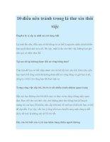 10 điều nên tránh trong lá thư xin thôi việc pdf