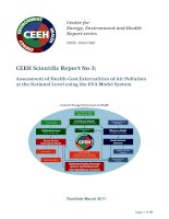 CEEH Scientific Report No 3: Assessment of Health­Cost Externalities of Air Pollution  at the National Level using the EVA Model System  docx