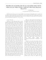 Nghiên cứu sự nhân lên tối ứu của dòng Virus Rota VNHR 203 - 030 trên tế bào thận khỉ Tiên Phát Macaca potx