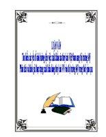 Luận văn Tìm hiểu các yếu tố ảnh hưởng đến việc xuất khẩu của thuỷ sản Việt Nam sang thị trường Mỹ pdf