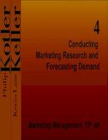 Phát triển thị trường   chiến lược và kế hoạch   tiến hành nghiên cứu thị trường và dự báo nhu cầu