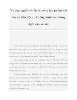 Vẻ đẹp người chiến sĩ trong tác phẩm bài thơ về tiểu đội xe không kính và những ngôi sao xa xôi pdf