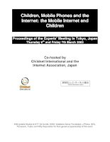 Children, Mobile Phones and the Internet: the Mobile Internet and Children pdf