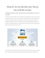 Đừng tin vào bảo mật đám mây! Hãy tự bảo vệ dữ liệu của bạn pot