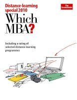 DISTANCE-LEARNING SPECIAL 2010 - WHICH MBA? docx