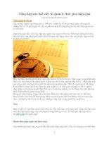 Tổng hợp các bài viết về quản lý thời gian hiệu quả ppt