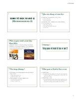 Kinh kế học vi mô 2 - Chương 1: Tổng quát về kinh tế học vi mô potx