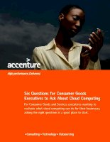 Six Questions for Consumer Goods Executives to Ask About Cloud Computing doc