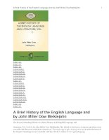 A Brief History of the English Language and Literature, Vol. 2 doc