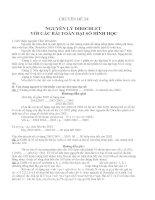 CHUYÊN ĐỀ 24: NGUYÊN LÝ DIRICHLET VỚI CÁC BÀI TOÁN ĐẠI SỐ HÌNH HỌC pot
