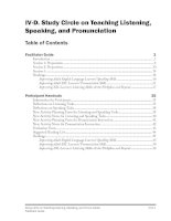 Study Circle on Teaching Listening, Speaking, and Pronunciation doc